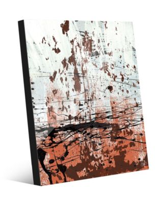 Rust Speckled Wall in Light Red Abstract 24