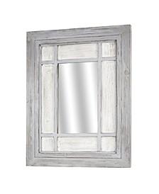 American Art Decor Rustic Wood Window Wall Mirror