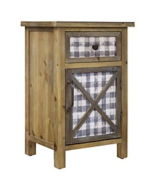 American Art Decor Farmhouse Nightstand End Table