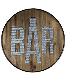 American Art Decor Rustic Bar Wood Galvanized Sign