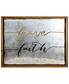American Art Decor Rustic Have Faith Inspirational Quote