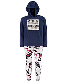 Big Girls Graphic-Print Hoodie & Caged Leggings, Created for Macy's