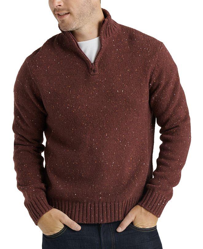 Lucky Brand Men's Heathered Quarter-Zip Sweater