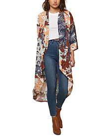 Juniors' Althea Printed Kimono