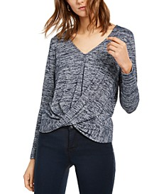 INC Shine Twist-Front Top, Created for Macy's