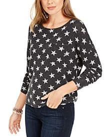 Star Print Long-Sleeved T-Shirt