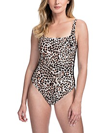Wild Thing Side-Lace Tummy Control One-Piece Swimsuit