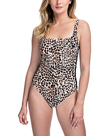 Profile by Gottex Wild Thing Side-Lace Tummy Control One-Piece Swimsuit