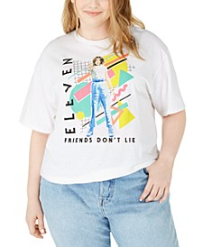Trendy Plus Size Eleven Cotton Graphic T-Shirt, Created For Macy's