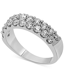 Diamond Double Row Band (1-1/2 ct. t.w.) in 14k White Gold