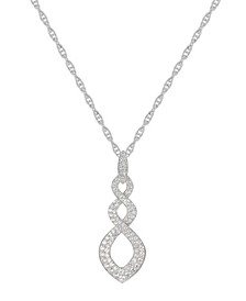 1/2 ct. t.w. Round Shape Diamond Pendant in 14k White Gold