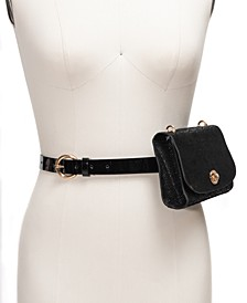 I.N.C. Snake-Embossed Convertible Belt Bag, Created For Macy's