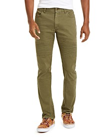 Sun + Stone Men's Slim-Fit Kilmister Articulated Moto Pants, Created For Macy's