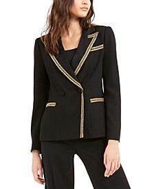 Embellished-Trim Blazer