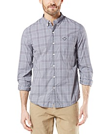Men's Slim-Fit Supreme Flex Poplin Stretch Alpha Icon Shirt