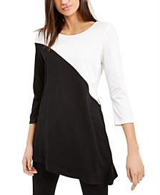 Asymmetrical Colorblocked Top, Created For Macy's