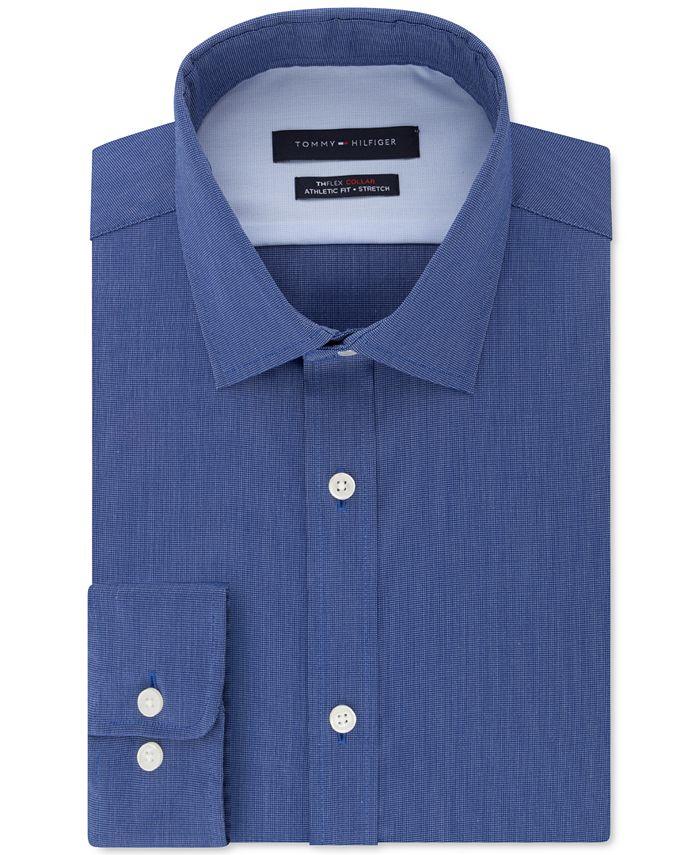 Tommy Hilfiger - Men's Athletic-Fit Flex Collar Dress Shirt