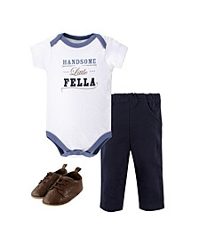 Baby Bodysuit, Pants and Shoes Set