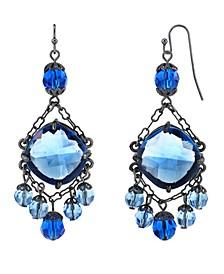 Black-Tone Chandelier Wire Drop Earrings