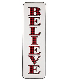 "Enameled Metal ""Believe"" Wall Sign"
