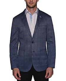 Men's Stretch Knit Glen Plaid Sport Coat
