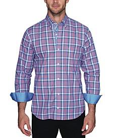 Men's Grid Plaid Button Down Shirt