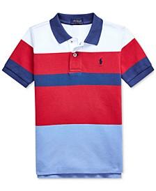 Little Boys Striped Cotton Mesh Polo Shirt