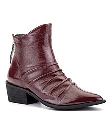 'Hold On' Crinkle Patent Ankle Boots