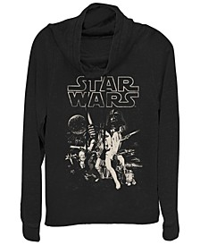 Star Wars Classic Darth Poster Cowl Neck Sweater