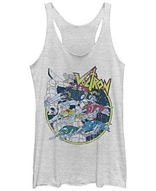Voltron Defender Of The Universe The Five Lions Tri-Blend Racer Back Tank