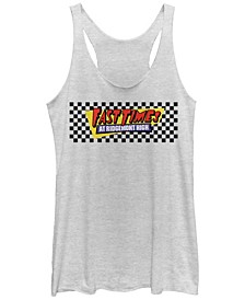 Fast Times at Ridgemont High Checkers Logo Tri-Blend Racer Back Tank