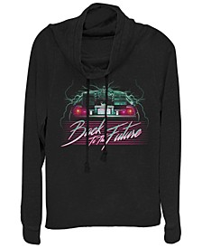 Back To the Future Delorean 80's Style Neon Cowl Neck Sweater