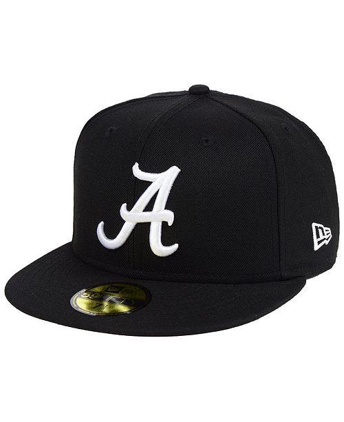 New Era Alabama Crimson Tide Core Black White 59FIFTY Fitted Cap