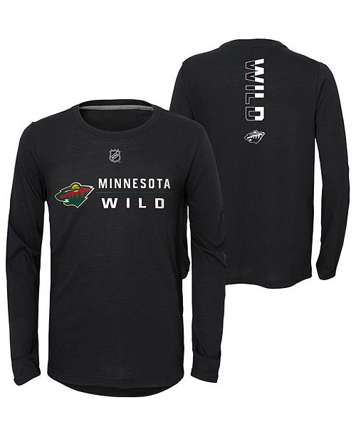 Outerstuff Big Boys Minnesota Wild Deliver Long Sleeve T-Shirt
