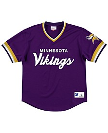 Men's Minnesota Vikings Special Script Mesh V-Neck Top