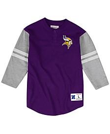 Men's Minnesota Vikings Team Logo Henley Top