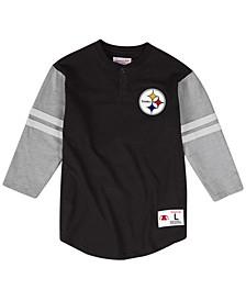 Men's Pittsburgh Steelers Team Logo Henley Top