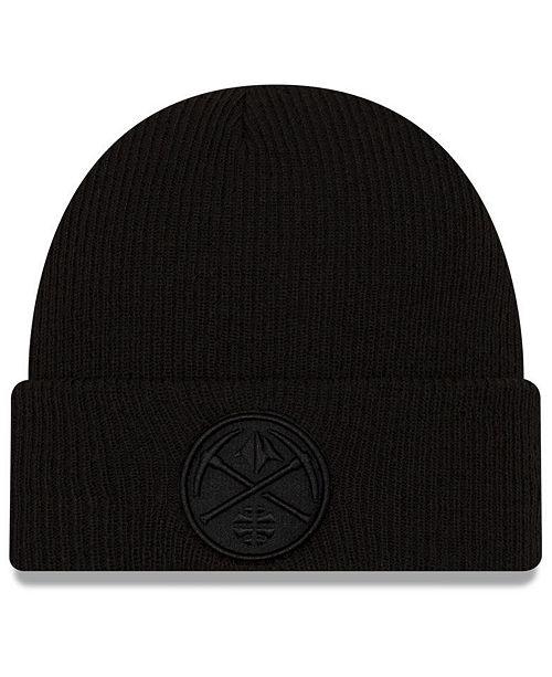 New Era Denver Nuggets Blackout Knit Hat