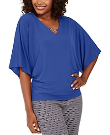 Hardware Batwing-Sleeve Tunic, Created For Macy's