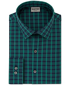 Men's All Day Flex Slim-Fit Performance Stretch Check Dress Shirt