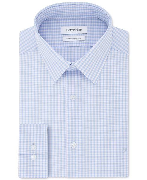 Calvin Klein Men's Slim-Fit Gingham Dress Shirt
