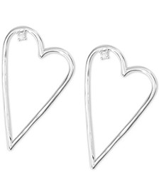 Open Heart Drop Earrings