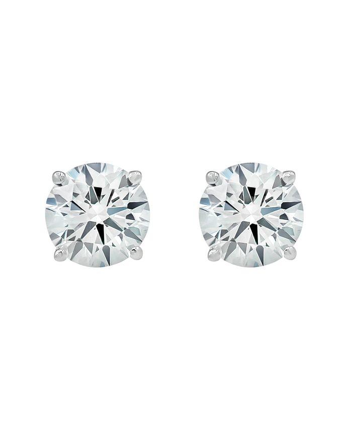 Macy's - 2 ct. t.w. Lab Grown Diamond Studs in 14k White Gold