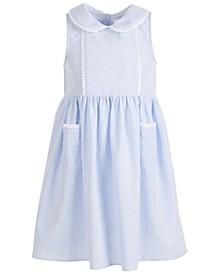 Little Girls Seersucker Peter-Pan Collar Dress
