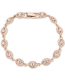 Rose Gold-Tone Crystal Flex Bracelet