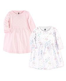 Baby Girl Cotton Dresses, Set of 2