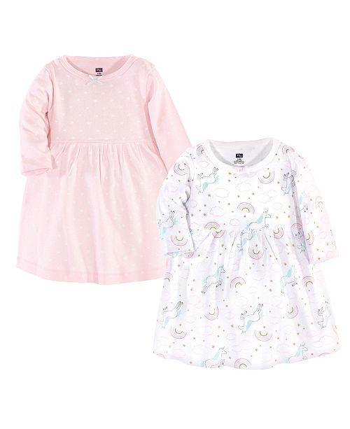 Hudson Baby Baby Girl Cotton Dresses, Set of 2