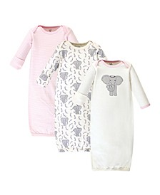 Baby Girl Gowns, Set of 3