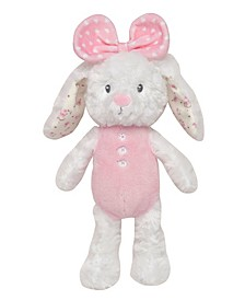 "11"" Floral Huggable Bunny Plush"