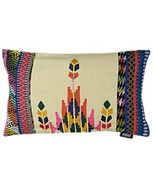 "Tribal Chic Collection Ethnic Empire Embroidery Lumbar Pillow, 14"" X 22"""